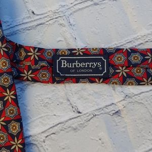 Burberry's of London necktie Red Gold Blue USA